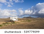 camper standing lonely in the... | Shutterstock . vector #539779099
