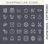 inline shopping icons collection | Shutterstock .eps vector #539783383
