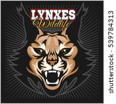 lynx mascot logo. head of... | Shutterstock .eps vector #539784313