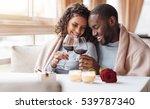 joyful african american couple...   Shutterstock . vector #539787340