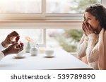 surprised african american... | Shutterstock . vector #539789890