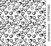 abstract seamless heart pattern.... | Shutterstock .eps vector #539791060
