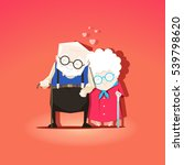 grandparents are together... | Shutterstock .eps vector #539798620