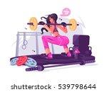fitness girl in gym | Shutterstock .eps vector #539798644