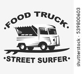 food truck emblems and logo... | Shutterstock .eps vector #539800603