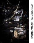 old   grunge car engine in soft ... | Shutterstock . vector #539800660