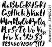 hand drawn font made by dry... | Shutterstock .eps vector #539802139