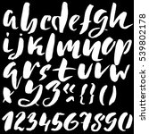 hand drawn font made by dry... | Shutterstock .eps vector #539802178
