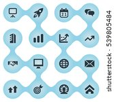 set of 16 simple startup icons. ...