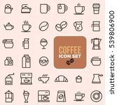 coffee icons | Shutterstock .eps vector #539806900