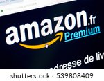 Small photo of Paris, France - December 15, 2016: Amazon Prime French homepage Sign-up . Amazon Prime (Premium in french) , is an annual subscription offered by amazon covering a set of privileges and services