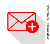 mail sign illustration with add ... | Shutterstock .eps vector #539813038