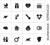 set of 16 editable folks icons. ...