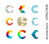 letter c logo set. color icon... | Shutterstock .eps vector #539817838
