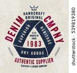 denim company print for t shirt ... | Shutterstock .eps vector #539819380