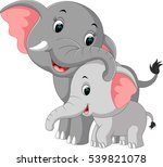 cute elephant cartoon | Shutterstock .eps vector #539821078