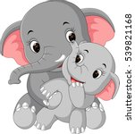 cute elephant cartoon | Shutterstock .eps vector #539821168