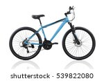 blue bicycle isolated on a... | Shutterstock . vector #539822080