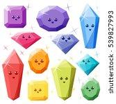 editable cute diamonds isolated ... | Shutterstock .eps vector #539827993