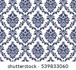 vector seamless floral damask... | Shutterstock . vector #539833060