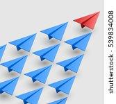 leader of aircraft guidance.... | Shutterstock .eps vector #539834008