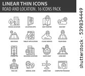 set of thin line flat icons.... | Shutterstock .eps vector #539834449