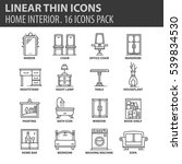 set of thin line flat icons....   Shutterstock .eps vector #539834530