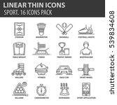 set of thin line flat icons.... | Shutterstock .eps vector #539834608