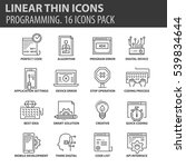 set of thin line flat icons.... | Shutterstock .eps vector #539834644
