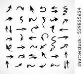 hand drawn arrows  vector set | Shutterstock .eps vector #539835634
