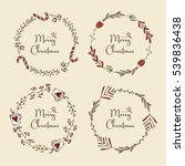 vector set. christmas and new... | Shutterstock .eps vector #539836438