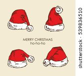 vector set. christmas hat of... | Shutterstock .eps vector #539836510