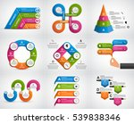 collection infographics. design ... | Shutterstock .eps vector #539838346