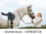 Equestrian Rider Girl With A...