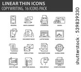 set of thin line flat icons.... | Shutterstock .eps vector #539839330