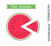 fresh watermelon logo template. ... | Shutterstock . vector #539843194