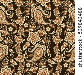 seamless paisley pattern in... | Shutterstock .eps vector #539843488