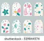vector set of christmas gift... | Shutterstock .eps vector #539844574