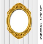 gold vintage frame on white... | Shutterstock .eps vector #539845894