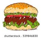 appetizing burger  freehand... | Shutterstock .eps vector #539846830