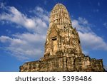 Wat Ratburana - Ayuthaya, Thailand - stock photo
