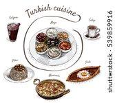menu of turkey colorful... | Shutterstock .eps vector #539859916