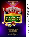vector poster for casino night | Shutterstock .eps vector #539863510