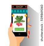 e commerce chinese shop online... | Shutterstock .eps vector #539869360