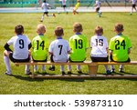 boys playing soccer. young... | Shutterstock . vector #539873110