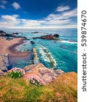 typical icelandic seascape with ...   Shutterstock . vector #539874670