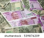 500 and 2000 indian currency... | Shutterstock . vector #539876209