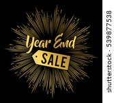 year end sale banner in gold...