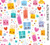 gift wrapping paper celebration ... | Shutterstock .eps vector #539877679