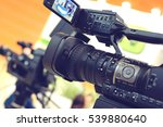 video camera while filming | Shutterstock . vector #539880640